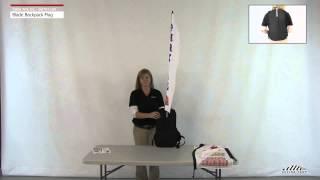 Mobile Marketing Backpack Flag - Blade Flag