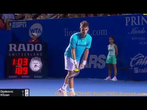 Novak Djokovic Vs Martin Klizan Highlights Abierto Mexicano Telcel Acapulco 2017