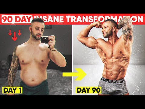 INSANE 90 DAY BODY TRANSFORMATION!!! * lost 14 kg*