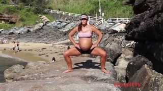 Sumo Squat Demo by a 35 week pregnant Dr Kate Wood