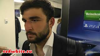 Георгий Джикия после матча Спартак - Ливерпуль 1:1