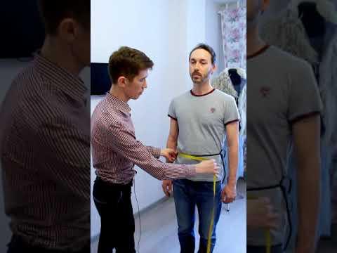 Снятие мерок для проектирования мужской одежды