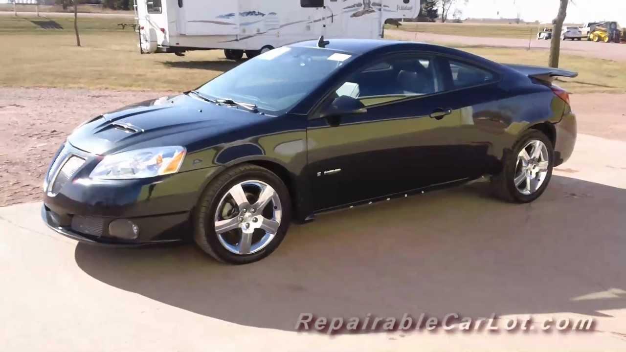 2008 pontiac g6 gxp v6 2dr repairable vehicle autoplex. Black Bedroom Furniture Sets. Home Design Ideas