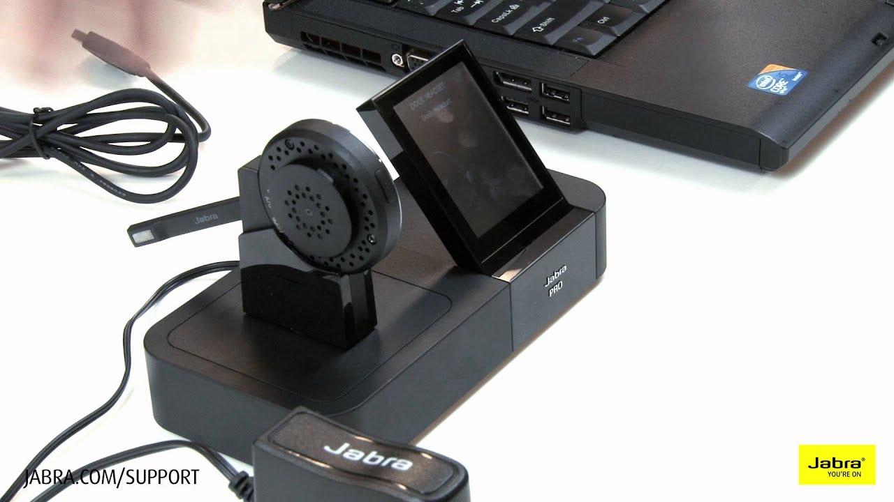 e232169f250 How to setup Jabra PRO™ 9460/70 headsets - YouTube