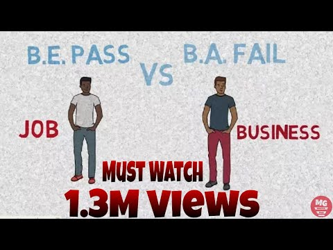 Job vs Business career growth | Story of B.E. Pass vs B.A. Fail Student | Sandeep Maheshwari