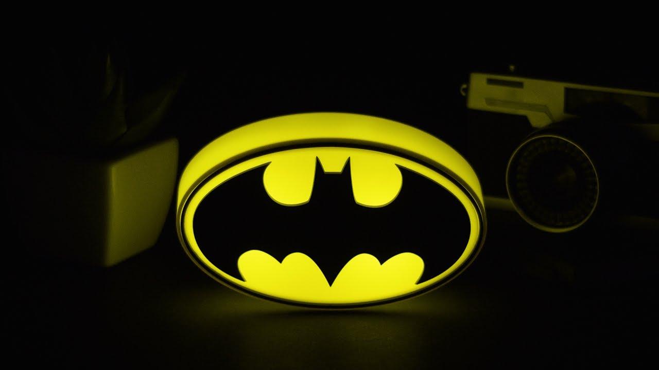 DC Comics Mini Batman Logo Light Paladone YouTube