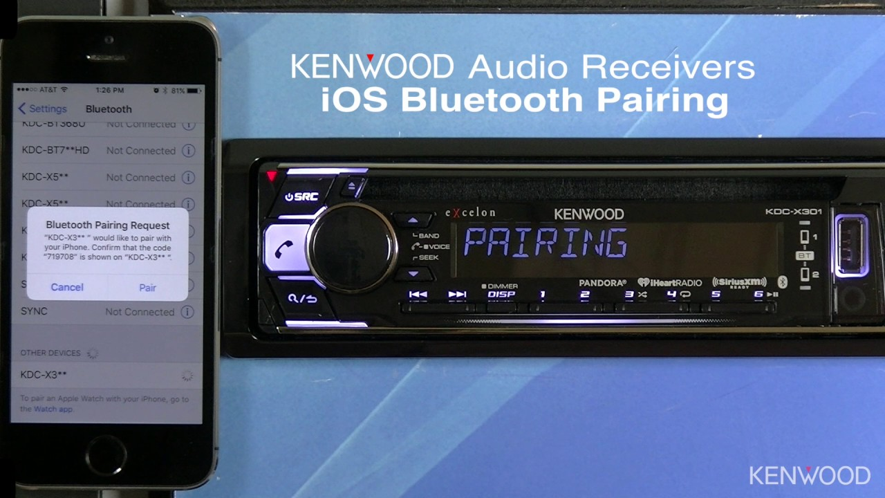 Kenwood Excelon Kdc X301 Ios Bluetooth Pairing For