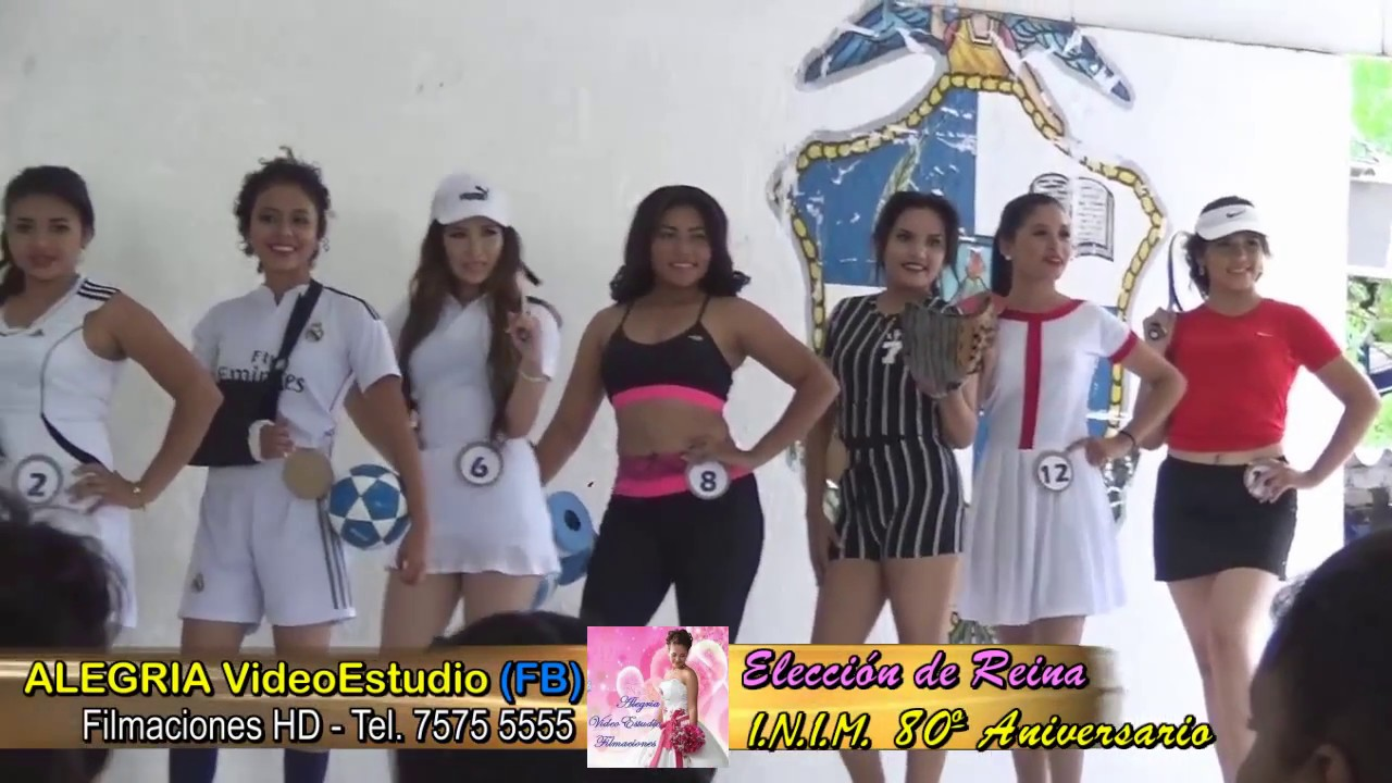 33f6a0dcd 80 Aniversario INIM Candidatas Pasarela Deportes - YouTube