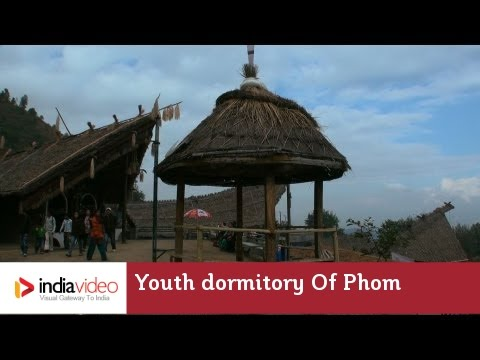 Youth dormitory of Phom tribe, Nagaland