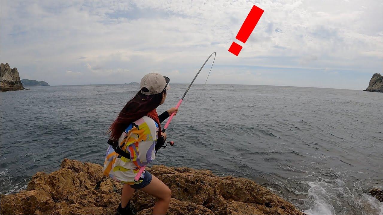 낚시천국 추자도에서 지렁이 미끼를 사용하면 놀라운일이 Fishing with worm bait