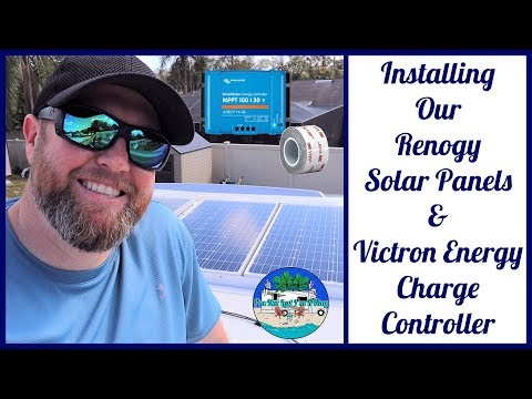 Installing Solar Panels With 3M VHB Tape & A  Charge Controller Install * RV SOLAR BASICS EP 14