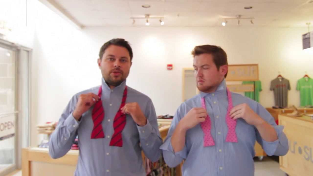 How to Tie the Perfect Bow Tie  Lessons from a Men's Shop