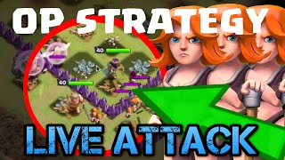 "Clash of Clans | ""NEW"" OP STRATEGY MASS VALKS LIVE ATTACK 
