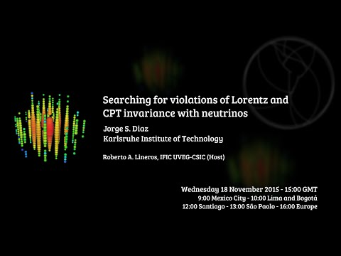 [W14] Jorge S. Diaz: Searching for violations of Lorentz and CPT invariance with neutrinos