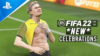 FIFA 22 ALL NEW CELEBRATIONS TUTORIAL | Playstation and Xbox