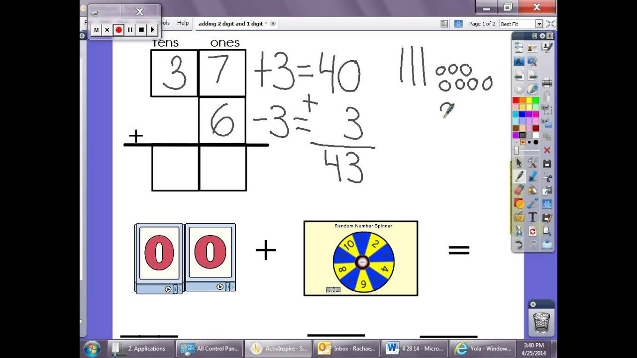Two Digits Plus One Digit Addition Strategies