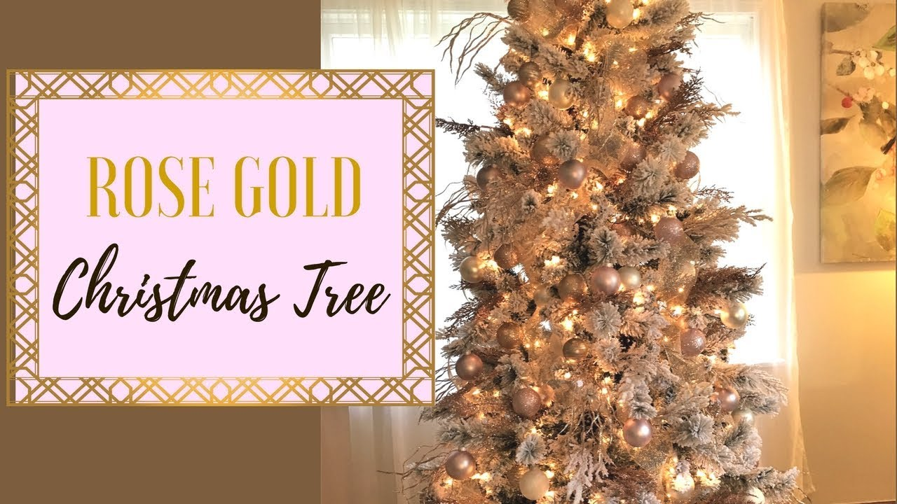 rose gold christmas tree 2017 simply earth giveaway cleancutcouponing - Gold Christmas Decorations