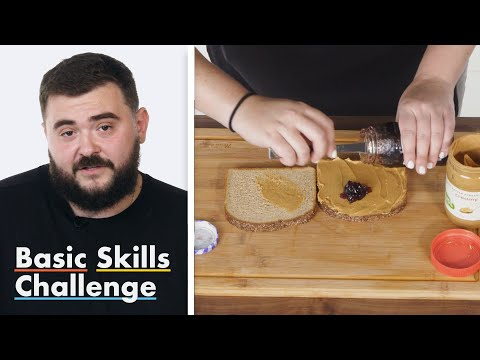 50 People Try To Make A Peanut Butter And Jelly Sandwich | Epicurious