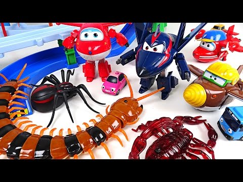 Thumbnail: Horrible bugs appeared in Tayo town. Go! Go! Super Wings Season2! - DuDuPopTOY