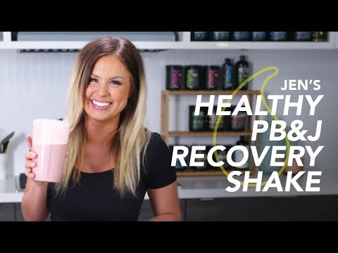 Jen Heward's Post-Workout Peanut Butter & Jelly Recovery Shake