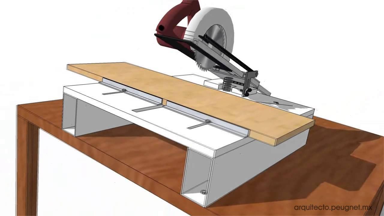 Adaptaci n de sierra circular para uso como sierra angular - Guia para construir ...