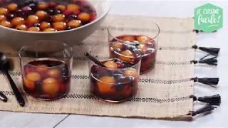 Recette facile de Sangria glacée (soupe de fruits rouges, billes de melon, rosé)