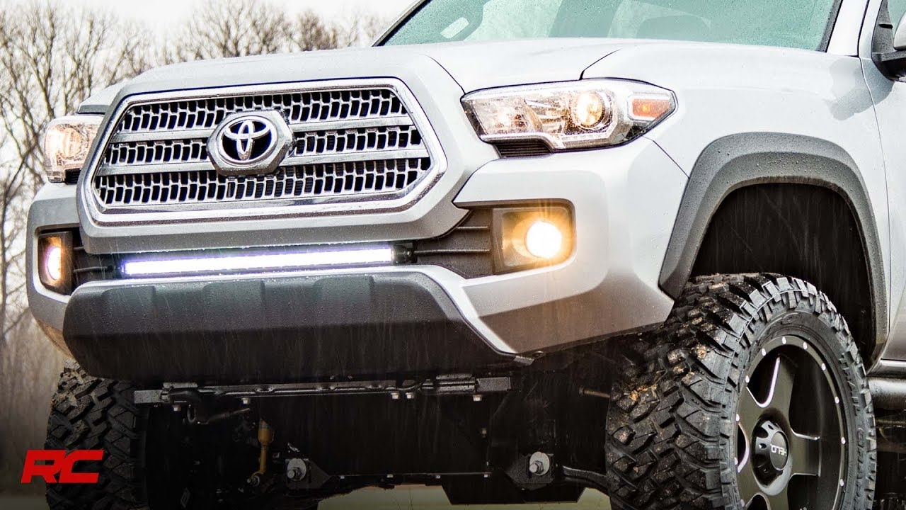 Installing 2016 2018 Toyota Tacoma 30 Inch Light Bar Bumper Mount By Rough Country