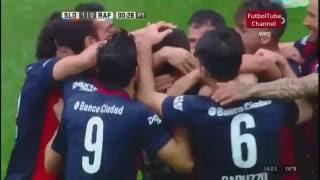 San Lorenzo vs Atletico Rafaela 2-1 l Goles fecha 5 primera division argentina 2016