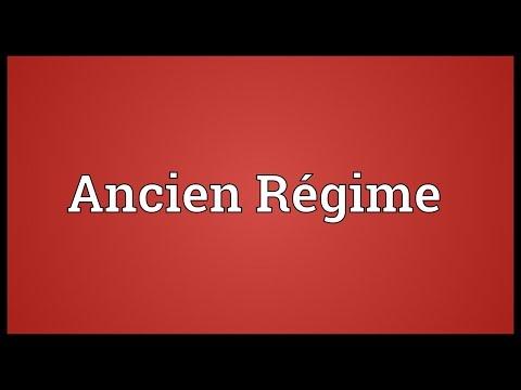 Ancien Régime Meaning