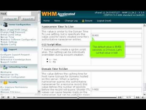 How To Alter The Cache Settings For DNS Records Managed By WHM - WHM Setup Tutorials