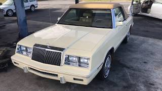 Chrysler LeBaron convertible 1986 K car walk around