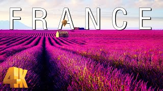 FLYING OVER FRANCE (4K UHD)  Relaxing Music & Amazing Beautiful Nature Scenery For Stress Relief