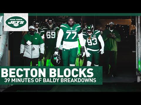 39 MINUTES OF BECTON BLOCKS! | Baldy Breakdowns | New York Jets