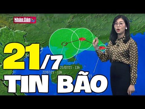 Dự báo thời tiết hôm nay và ngày mai 21/7   Dự báo thời tiết đêm nay mới nhất