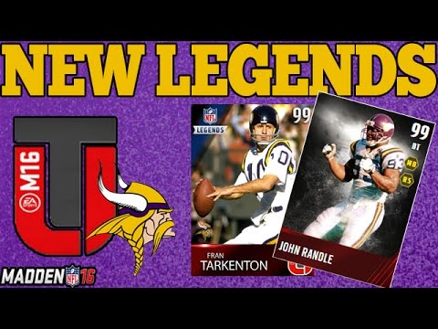 NEW MUT 16 LEGENDS | VIKINGS FT. TARKENTON | MADDEN 16 ULTIMATE TEAM