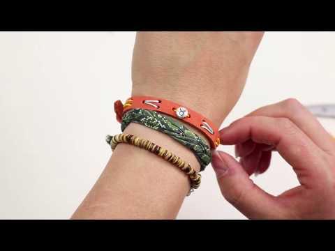 DIY de joyería ♡: Brazalete cuoio bordado con abalorios DQ