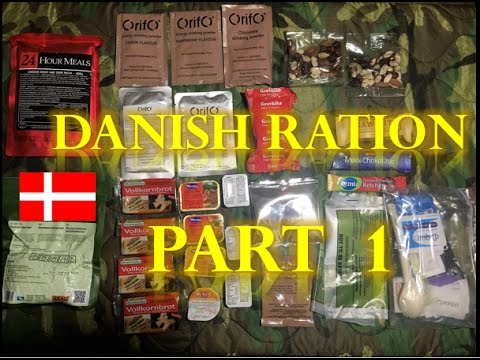 Danish 24hr Combat MRE Ration PART 1