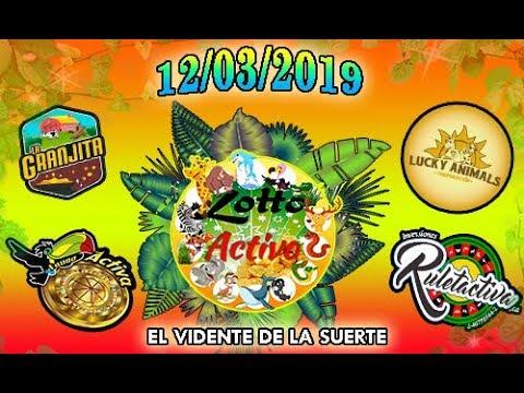 Datos Fijos para Lotto Activo y la Granjita 12/03/2019 El Vidente de la Suerte!!!