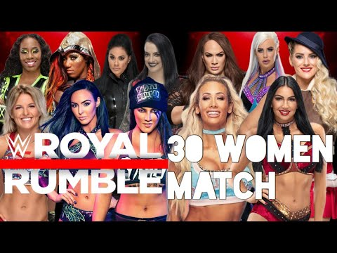 WWE 2K20 ROYAL RUMBLE MATCH CARD | Simple Eve
