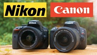 Canon SL2 (200D) vs Nikon D3400 - Which is the best cheap DSLR?