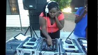 Botswana female DJ_Laninah Benz @ the funky Pants and Shades party 2013, Notwane Club