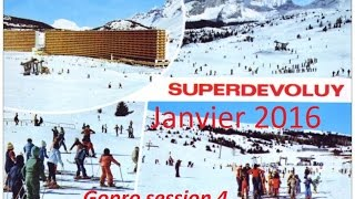 Superdevoluy  Janvier 2016 - HD - Gopro session 4 - Ski