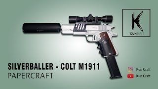 Silverballer (Colt M1911) l Papercraft Build l Time-lapse