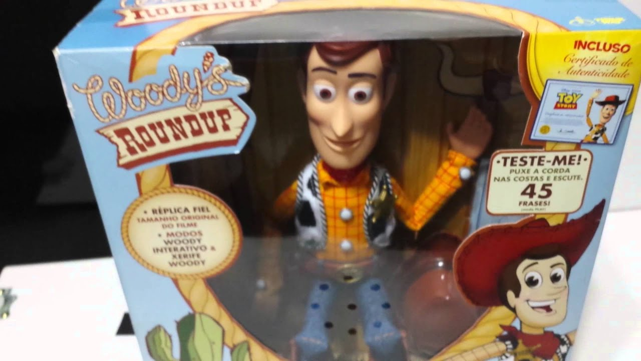 Boneco Woody Xerife Collection Toy Story Youtube