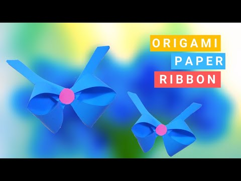 Origami Paper Ribbon || Easy Origami Bow || DIY Paper Crafts