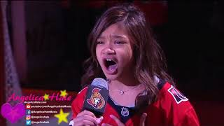 Angelica Hale Sings US & Canadian Anthems in Ottawa - NHL Panthers vs Senators