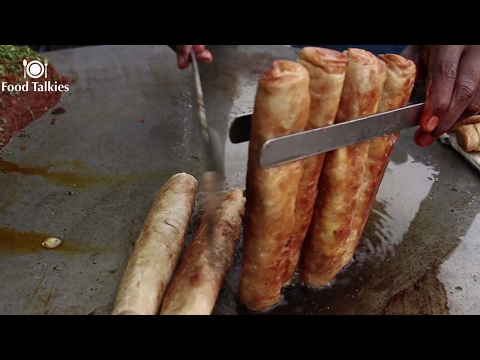 Indian Street Food - Street Food in Mumbai - Egg Roll