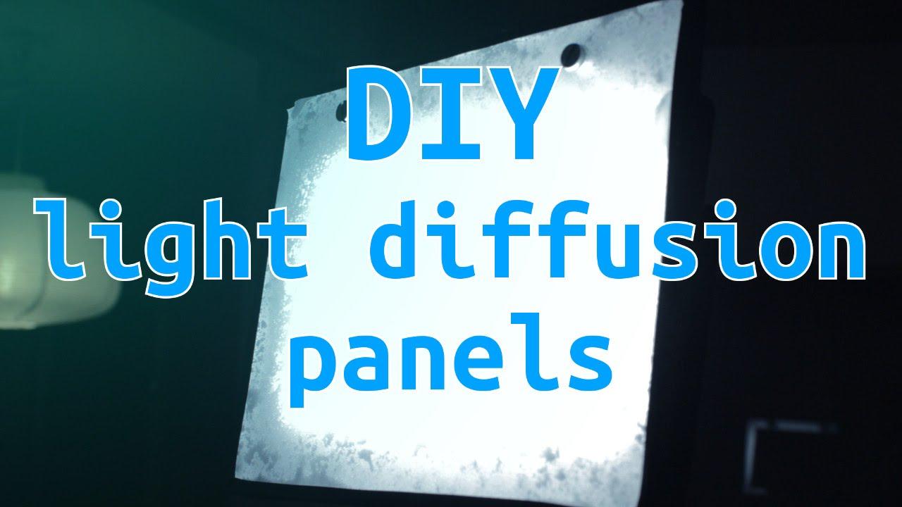 DIY Light Diffusion Panels (for LED's only) - Oskar Builds