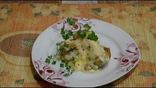 Домашние видео рецепты - минтай в сливочно-сырном соусе в мультиварке