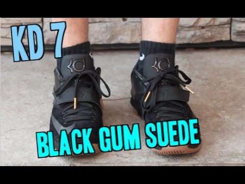 f97e5ebeae5 Nike KD 7 EXT Black Suede Gum ON FEET! - YouTube